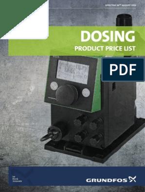 Dosing Product price list by Grundfos | Valve | Pump