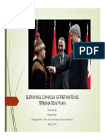 SURVIVING CANADA'S FIRST NATIONS TERMINATION PLAN May 2 14