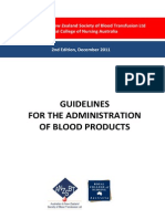 ANZSBT Guidelines Administration Blood Products 2ndEd Dec 2011 Hyperlinks