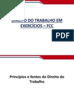Direito Do Trabalho Em Exercicios Aula 01 Principios e Fontes Fcc37001339873