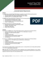 Maya2009 System requirements Final