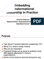 TransformationalleadershippresentationbyCarolinePattersonFeb2007