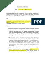 Franchise Agreement   Standard.doc