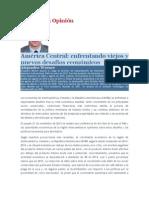 America Central Enfrentando Viejos y Nuevos Desafios Economicos