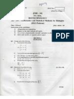 PU BSc Biotech Question Paper 2014