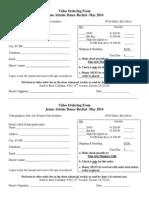 Video Ordering Information 2014