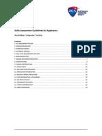 Skills Assessment Guidelines for Applicants