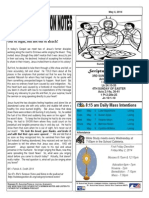 St. Augustine Roman Catholic Church, Sunday Bulletin, May 4, 2014