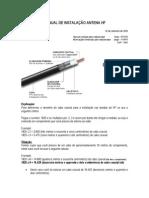Manual Dados Cabo Coaxial e Antena v Invertido