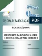 Diploma Descoberta Escola Azul