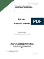 Syllabus and SAP Advanced Statistic - January 2014rev