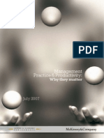 Management Practice and Productivity