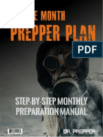 Twelve Month Prepper Plan