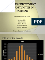 Foreign Investment Opportunities in Pakistan