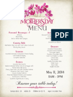 Mother's Day at Vito's