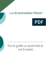Test de personalitate Tibetan