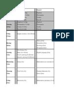 Mock Timetable