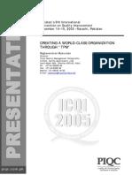 R Mukundan Creating a World Class Organization Through TPM Six Sigma Presentation PIQC