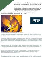 Comparación con Bomberos de Ecija y Zaragoza