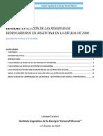 Informe.reservasdecada2010.Argentina