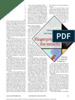 Fingerprinting for Security