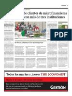 Medio Millón de Clientes de Microfinancieras Tiene Deudas Con Más de 3 Instituciones_Gestión 5-05-2014