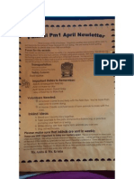 newsletter for standard 5