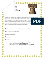 bill of rights performance rubric