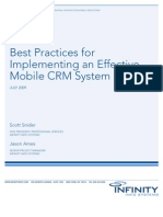 Best Practices for Implementing an Effective Mobile CRM System