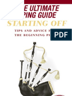 Bagpipes - Ultimate Piping Guide - Starting Off - 45-Pages