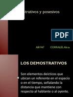 ACC - Demostrativos y Posesivos