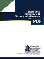 CIU Seminary Catalog 2009-2010