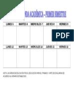 Agenda Academica