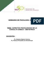 Aspectos Psicologicos de La Consulta Gineco Obstetrica
