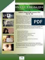 Week 1 Mental Health Awareness Month