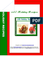 640 Holiday Recipes