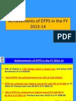 Achievement in FY2013-14