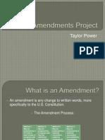 amendments project taylor power