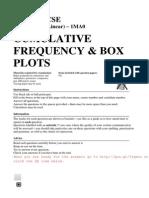 GCSE Maths - Exam Topics - Grade B - Questions - Cumulative Frequency and Box Plots.