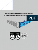 THE VITAL ROLE OF CONTRACT MANUFACTURING  IN SUPPLY CHAIN MANAGEMENT AND OPTIMIZATION