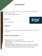 Curriculo - Thales de Menezes