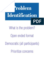 2. Problem Identification Summary