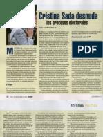 Nota de Revista Proceso sobre libro de Cristina Sada Salinas