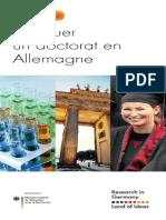 DAAD Doctorat en Allemagne
