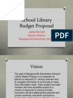 school library budget proposal