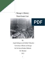 third grade -chicago history unit plan
