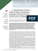 Ae Taeniorhynchus Vectorial Capacity