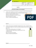 Proposta de Ficha de Trabalho Matemática 6º Ano Preparação Para a PFinal