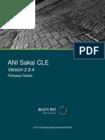 ANI Sakai CLE 2.9.4 Release Notes