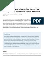 451Research Systems Integration Service Integration Accenture Cloud Platform